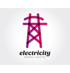 Abstract electricity logo template for vector