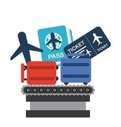 Airport terminal design vector