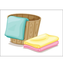 bucket and towels vector image vector image