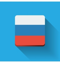 Button with flag of Russia vector image