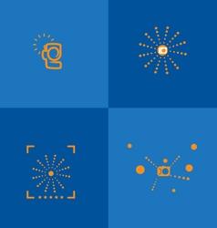 Camera logo solid color vector