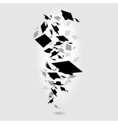 caps graduates whirlwind vector image