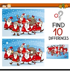 Christmas differences task for kids vector