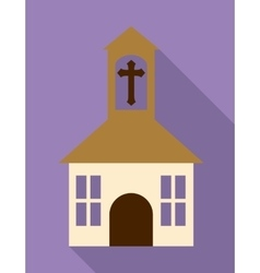 church cross building religion icon vector image