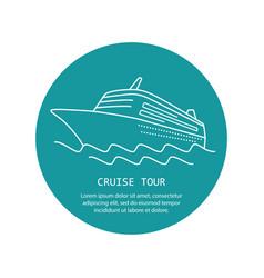 Cruise ship logo vector