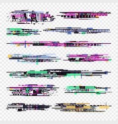 Decay signal glitch elements isolated vector