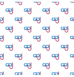 Diving mask and snorkel pattern seamless vector
