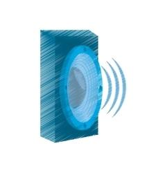 drawing speaker audio sound volume vector image