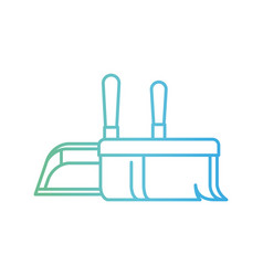 dustpan and hand broom in closeup in degraded vector image vector image