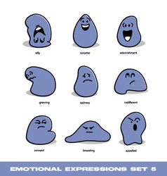emotional expressions set vector image vector image