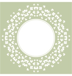 flower background with clover and place for text vector image vector image