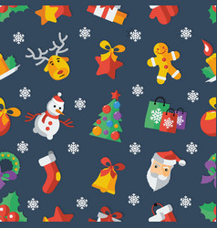for christmas and new year flat vector image vector image