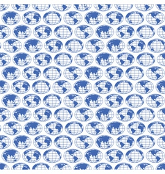 Globe maps pattern vector image vector image