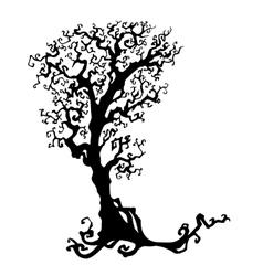 Halloween tree isolated on vector image vector image