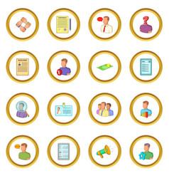 Human resources icons circle vector