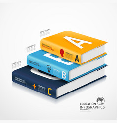 Infographic books vector