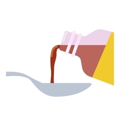 Medical syrup icon flat style vector image