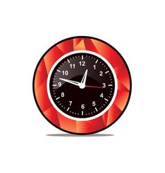 Modern wall clock icon vector