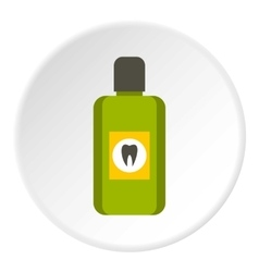 Mouthwash icon flat style vector image vector image