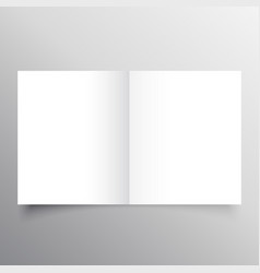 Open book black mockup template design vector