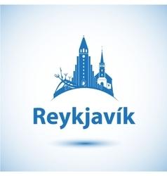 Reykjavik skyline - vector