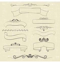 ribbons and ornaments vector image vector image