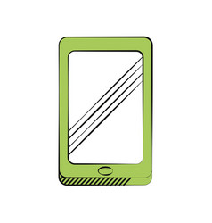 Smartphone technology communication icon vector