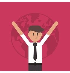 Succesful businessman icon vector