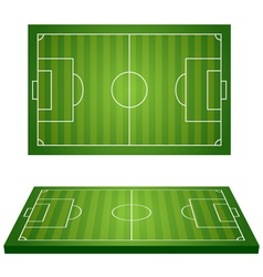 Football field 3d vector