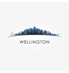 Wellington skyline silhouette vector image
