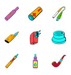 voltage icons set cartoon style vector image