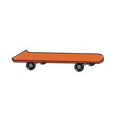 drawing skateboard board sport element vector image