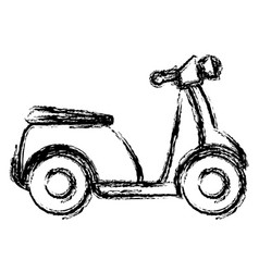 Scooter bike isolated icon vector