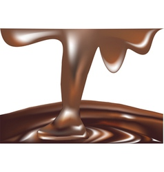 Melted chocolate vector