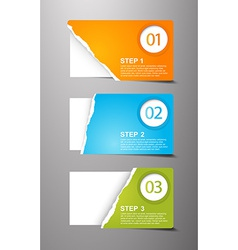 Set of teared card with place for your own text vector image