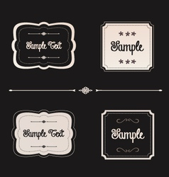 Blackboard frames preview vector