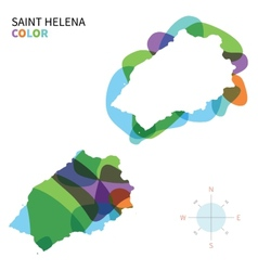 Abstract color map of saint helena vector