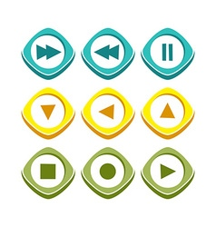 Icon button set vector