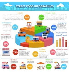 Street Food Infographics vector image