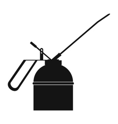 Black extinguisher icon vector
