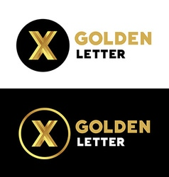 Letter x number 10 logo icon design template vector