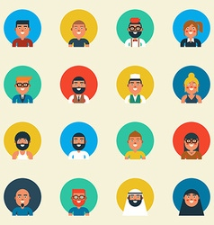 Variation of character design vector