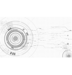 abstract technological sketch background vector image vector image