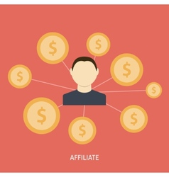Affiliate icon flat vector