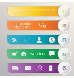 Banner ribbon Element infographic Web icons vector image