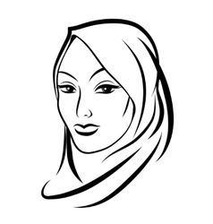 Beautiful arab muslim woman vector image