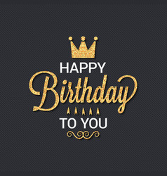 birthday card logo design background vector image vector image