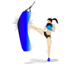 boxing woman vector image vector image