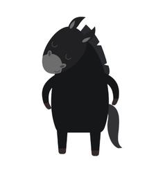 Cartoon donkey farm animal vector image vector image