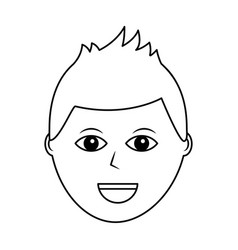 Cartoon face man male character person vector